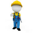 3d white people as plumber