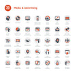 canvas print picture - Media and Advertising icons