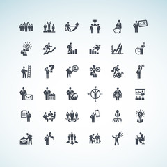Set of business people concept icons