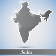shiny icon in form of India