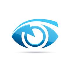 Vector Logo blue eye, photographer