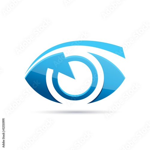 Vector Logo blue eye, photographer