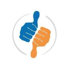 Vector logo optimism