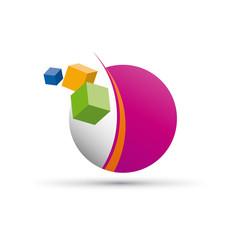 Vector Logo digital world