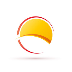 Logo abstract seaside holidays