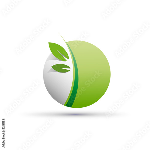 Vector logo green spheres