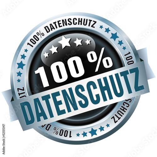 Button - 100% Datenschutz