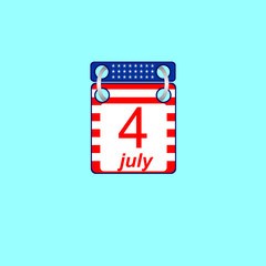 Calendar July 4 U.S. Independence Day