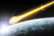 Apocalypse : meteorite on the planet Earth