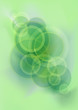 Abstract bright green glistening mesh background with circles