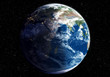 Earth at night transiting to day (Nasa map)