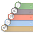 3d numbered banners for web design