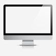 canvas print picture - Computer display with blank white screen