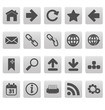 Web icons on gray squares