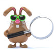 Chocolate bunny searches the internet