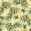 vector seamless pattern with olive branch