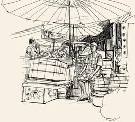chinese marcket in Bangkok