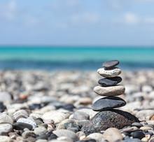 Zen pierres pile équilibrée