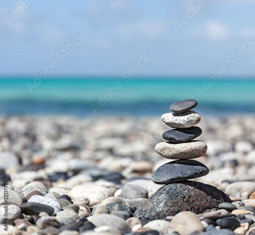 Zen balanced stones stack - 52137984