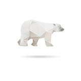 White bear abstract isolated on a white backgrounds