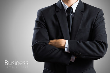 closeup businessman suit Isolated on gray background