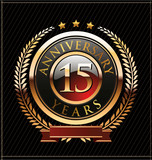 15 years Anniversary golden label