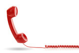 Fototapety Red telephone receiver