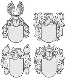 set of aristocratic emblems No9