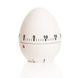 canvas print picture - Egg-shaped white timer