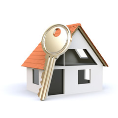 3D house and key