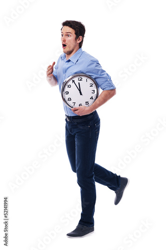 Oh my God! I'm late! I have only five minutes!
