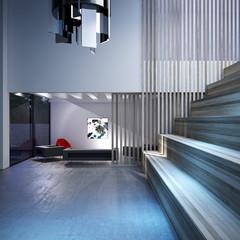 architectural interior 3d illustration