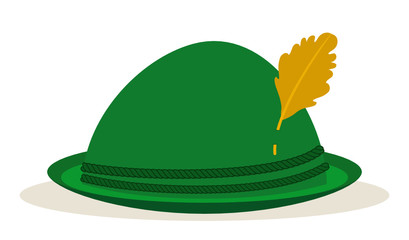 green oktoberfest hat traditional holidays