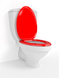 Toilet bowl, with the closed seat