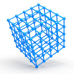 3D Cube and corner spheres