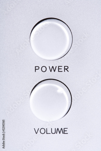 Power and volume buttons