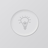 Idea bulb icon on grey background