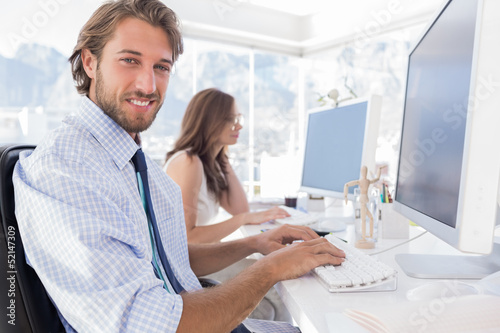 Attractive designer at work