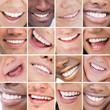 Collage of bright white smiles