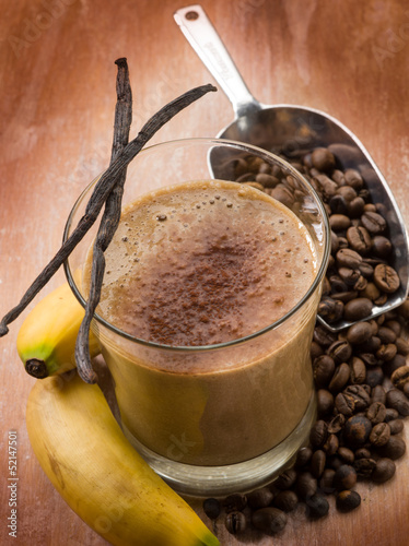 drink smoothie with coffee banana and vanilla