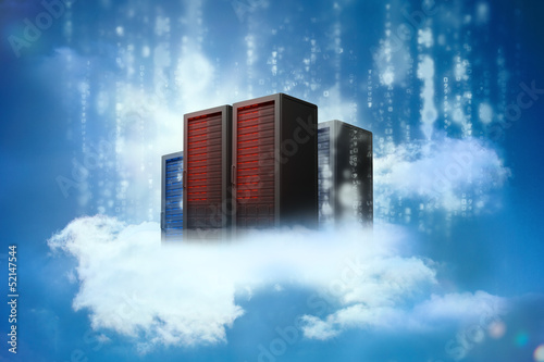 Data servers resting on clouds