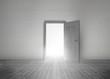 Door opening to reveal bright light