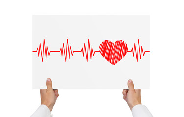 paper with cardiogram