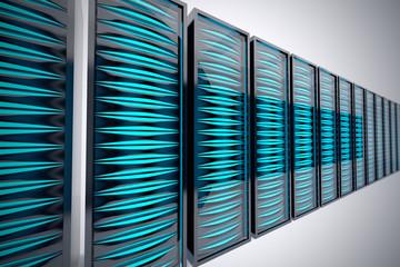 Rack of servers.