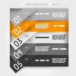 orange infographic five oblique sticker options
