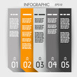orange infographic five options notebook columns