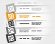 orange transparent infographic 5 options with big squares