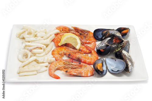 mariscada, typical spansih cooked seafood