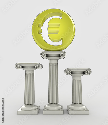 best money value concept with euro coin
