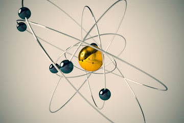 Isolated atom.